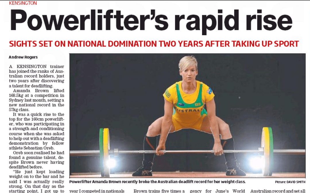 Powerlifter's rapid rise