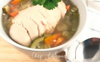 Maltese Style Chicken Veggie Soup (brodu)