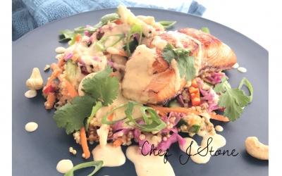 Hello Spring: Salmon Quinoa Salad