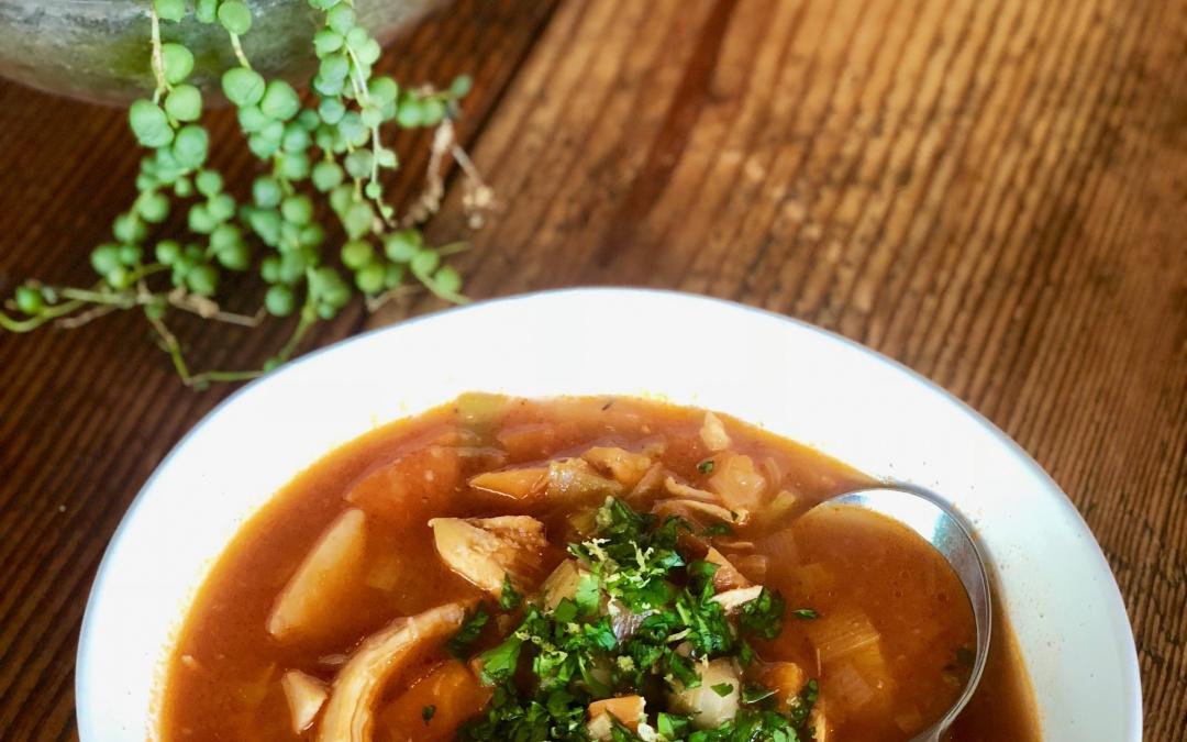 Spicy Chicken Minestrone with Gremolata