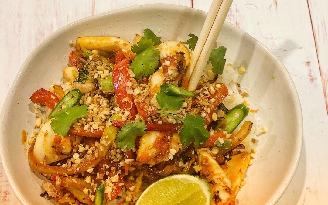 Spicy Calamari Stir Fry