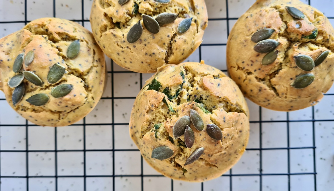 Pumpkin and Poppy Seed Savoury Muffins